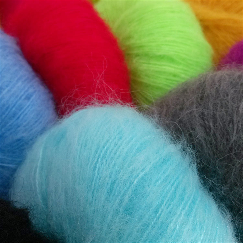 High Quality 250g 10 Balls Natural Mohair Cashmere Yarn For Hand Knitting Luxury Fur Angola Woolen Hairy Skein