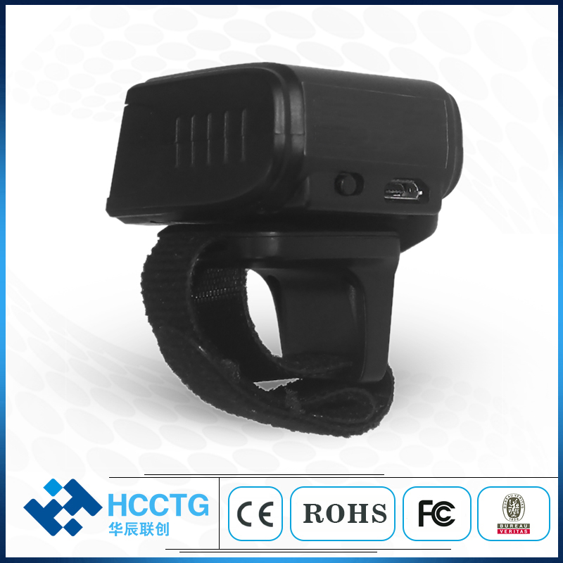 Mini Ring USB 1D 2D Bluetooth 2.4G Wireless CMOS Barcode Scanner with CMOS Video HS-S03 Bar Code Reader For office or Warehouse