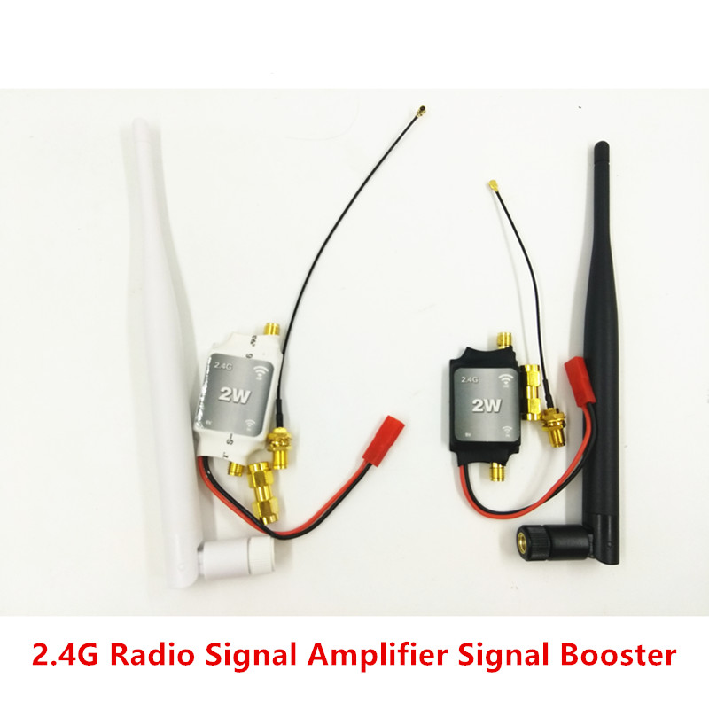 2.4G Radio Signal Amplifier / Signal Booster - White black for RC Model Quadcopter Multicopter 2 4ghz 8w wlan wifi wireless broadband amplifier signal booster for rc radio extend the distance