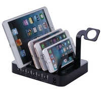 BIBOVI 6 Ports Desktop USB Charger Multi Function 8 8A Charging Station Dock With Stand Plug