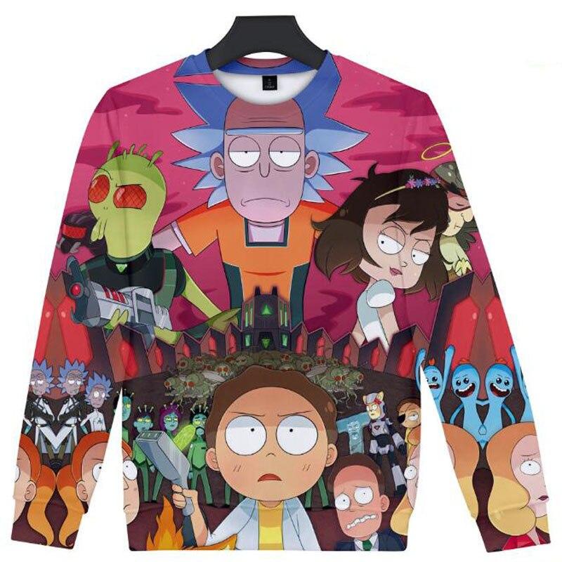 Cool rick and morty 3D Hooded Sweatshirt Long Sleeve Streetwear Hip Hop Mens Hoodies And Sweatshirts rick y morty Anime Hoodie