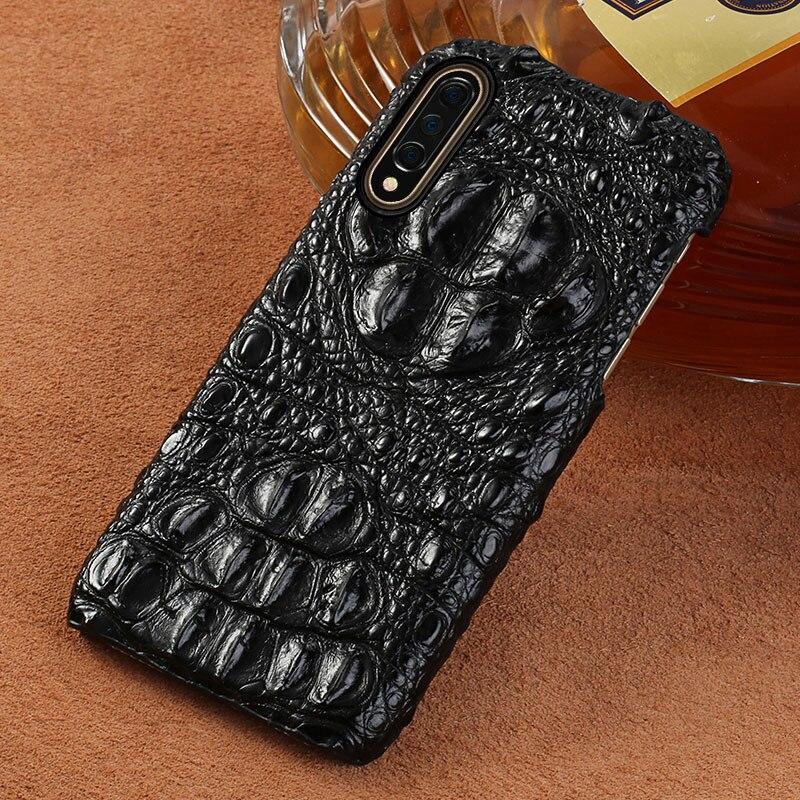 Étui en cuir de Crocodile d'origine pour Xiao mi 9 SE mi 8 couvertures arrière pour Xiao mi 8 explorer Lite A2 coque de luxe pour mi Note 7 rouge - 2