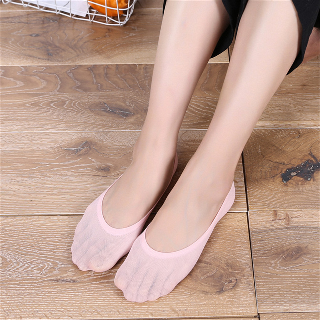 2019 TOP Fashion Women's Cotton Color Matching Warm Colorful Solid Color Casual Socks Boat Socks Invisible Socks