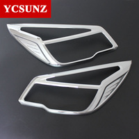 Chrome Headlights Cover For Holden Chevy Colorado 2012 2015 ABS Chrome Front Lamps Covers For Chevrolet Colorado Kits Ycsunz