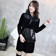 2019 New Fashion Genuine Sheep Leather Dress Y31
