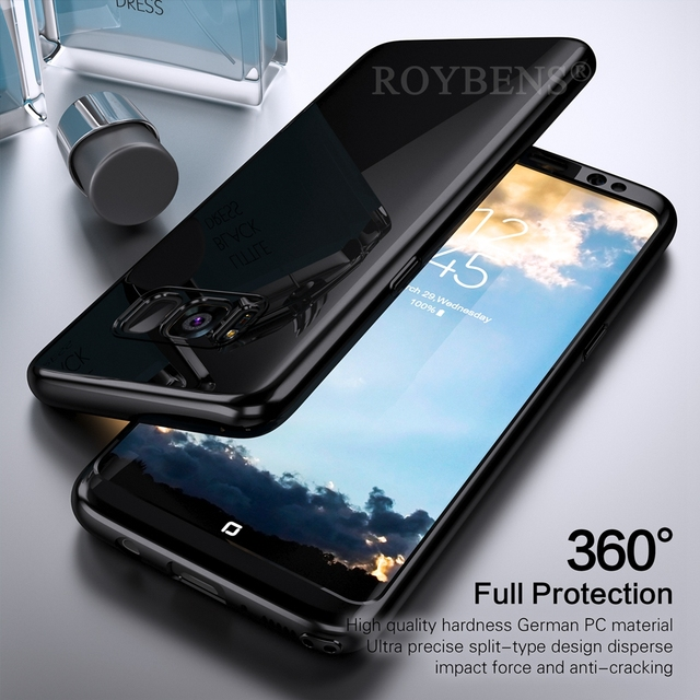 Roybens For Galaxy Note 8 Case Luxury Mirror 360 Ultra Thin Full Protection Case For Samsung Galaxy S8 Plus S7 Edge S9 S9+ Cover 1