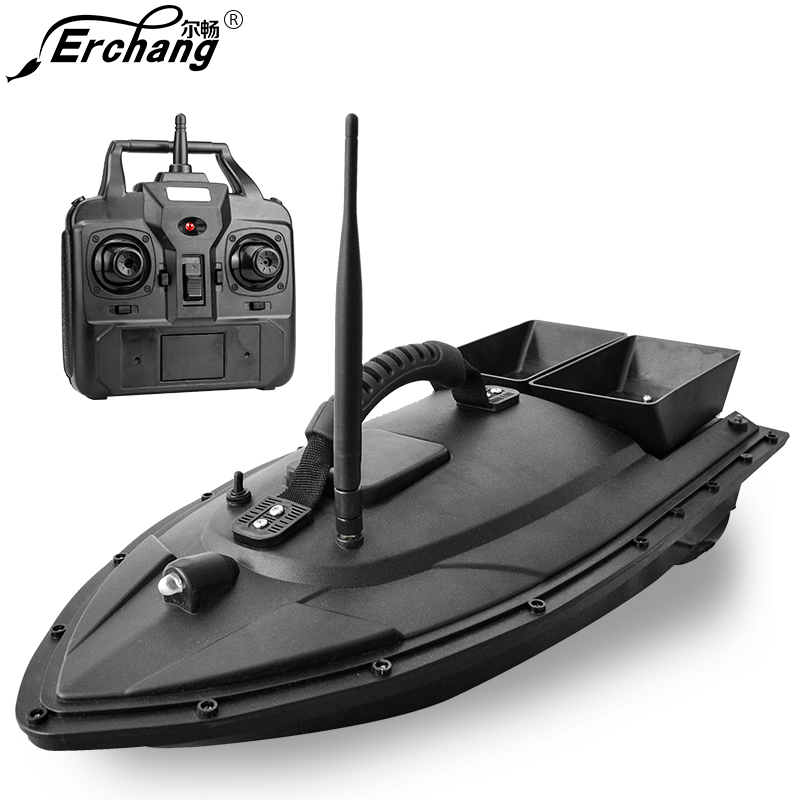 цены Erchang New arrival Fishing Bait Boat 300m Remote Control Fish Finder Fishing Equipment Lure Carp Carrier Boats for fishing