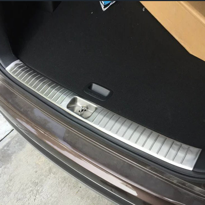 Stainless Steel Inner Rear Bumper Foot Plate For KIA KX5 Sportage 2016 Auto Accessories