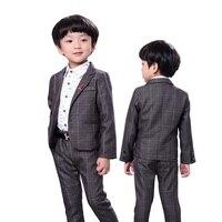 Children Baby Kids Boys Blazers Suits Weddings Formal Flower Boy Dress Kid's Dress Sets