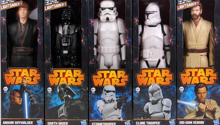 5pcs/lot Star <font><b>Wars</b></font> Toy Stormtrooper Darth Vader Anakin Skywalker <font><b>Obi-Wan</b></font> <font><b>Kenobi</b></font> <font><b>Clone</b></font> Trooper PVC <font><b>Action</b></font> <font><b>Figure</b></font> Star <font><b>Wars</b></font>