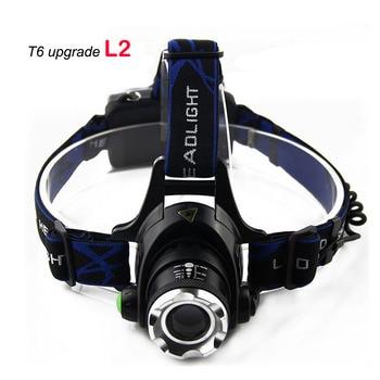Linterna frontal led xm l2 ultrabrillante, potente faro delantero, linterna, linterna, lámpara para pesca al aire libre, caza