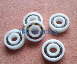 Free shippping 10pc 606 607 608 609 6000 6001 6002 6003 6004 6005 6006 6007 POM plastic ball bearing glass ball
