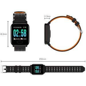 Image 5 - Reloj inteligente bluetooth bip smartwatch hombre relogio relojes นาฬิกาดิจิตอล Heart rate การตรวจสอบ smart watch ข้อความจอแสดงผล Q9