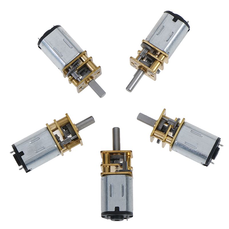 1PCS Metal 6V 12V DC Mini Micro Gear Motor with Gearwheel DC Motors 20/30/<font><b>50</b></font>/100/200/300 <font><b>RPM</b></font> image