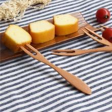 4 pcs/ salad fruit fork dessert cake teatime afternoon tea Kitchen Home party supplies