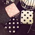 Free shipping Polka dot printed short MINI SQUARE Fold Wallet women coin purse Clutch coin purse