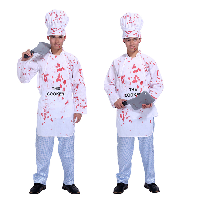 Free shipping Halloween costume adult male chef bloody clothing Cosplay Masquerade costumes bloody horror male chef  sc 1 st  AliExpress.com : chef halloween costumes  - Germanpascual.Com