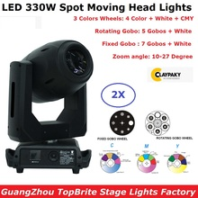 2XLot LED 330W Spot Moving Head Lights DMX512 Zoom 3 Facet Prism Professional Dj Bar Party Show Stage