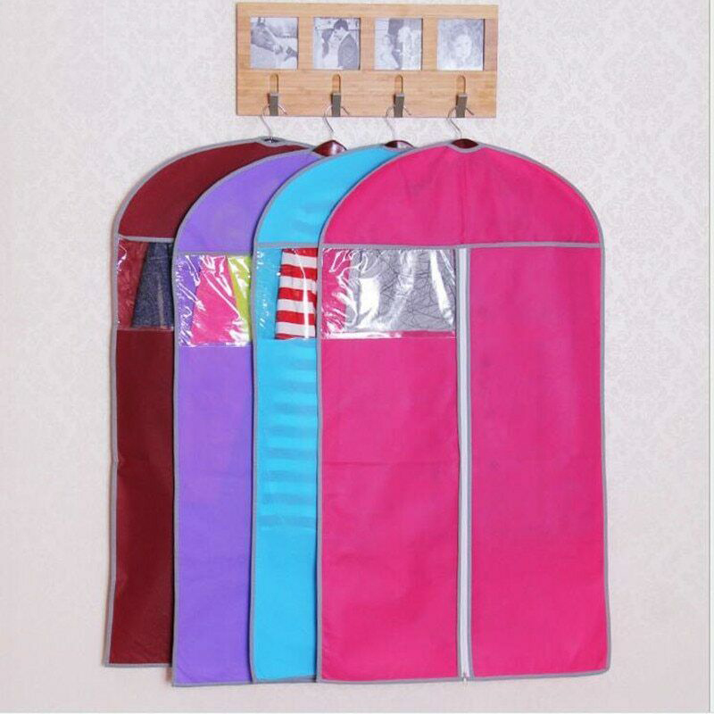 Colorful Clothing Covers Clear Suit Bag Moth Proof Garment Bags Breathable Zipper Dust Cover Storage Bags For Suit Dance Clothes