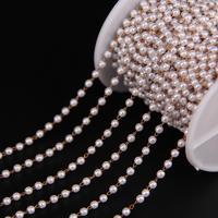 5 Meter Kunststoff Perle Runde Perlen Kupfer Link Chian, Messing Draht Umwickelt Rosenkranz Chian DIY Frauen Pullover Kette halskette
