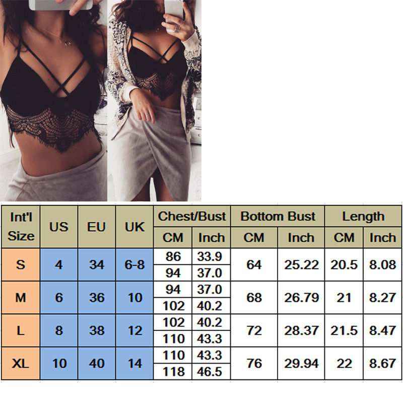 032c693ae73ad 2017 Sexy Women Ladies Clothing Tops Floral Sheer Lace Triangle Bralette  Unpadded Bra Crop Top Strappy Lingerie-in Bras from Underwear   Sleepwears  on ...