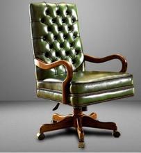 Prosty nowoczesny skórzany fotel kierownika skóra bydlęca duża klasa krzesło z litego drewna krzesło biurowe home lift krzesło do pracy na komputerze tanie tanio Meble sklepowe Meble biurowe Mesh krzesło Krzesło obrotowe Wyciąg krzesełkowy ANDYWINSS Prawdziwej skóry 125mm- 800mm