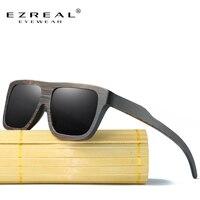 EZREAL Polarized Wood Sunglasses Retro Bamboo Frame Driving Sun Glasses Handmade Wooden Eyewear Glasses For Men