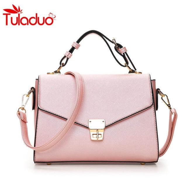 891a99863f 2017 Fashion Bags Women Lock Womens Leather Handbags Ladies Fashion Totes Designers  Famous Brand Crossbody Small Bags Sac A Main