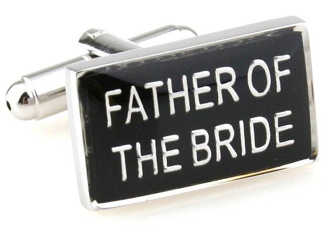 Novelty Fancy FATHER OF THE BRIDE Cuff Links Male Men's Wedding Shirt Dress Cuff Links 170288