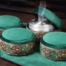 共有 ho 緑のベルベットのバッグ無煙灸ボックス中国灸スティックバーナー鍼灸経絡加熱治療暖かい女性