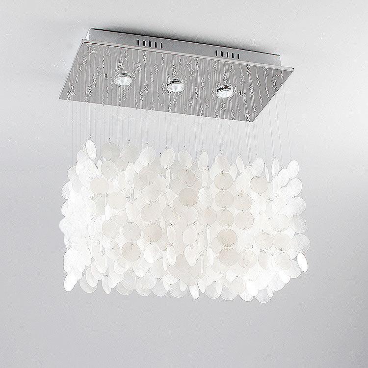 Simple shell LED pendant lights/lamps beautiful white living room restaurant bedroom romantic clothing store house lighting ZA