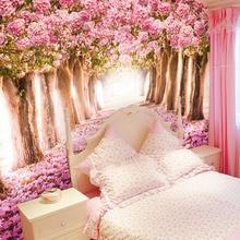 3D Custom Wallpaper Romantic Cherry Blossoms