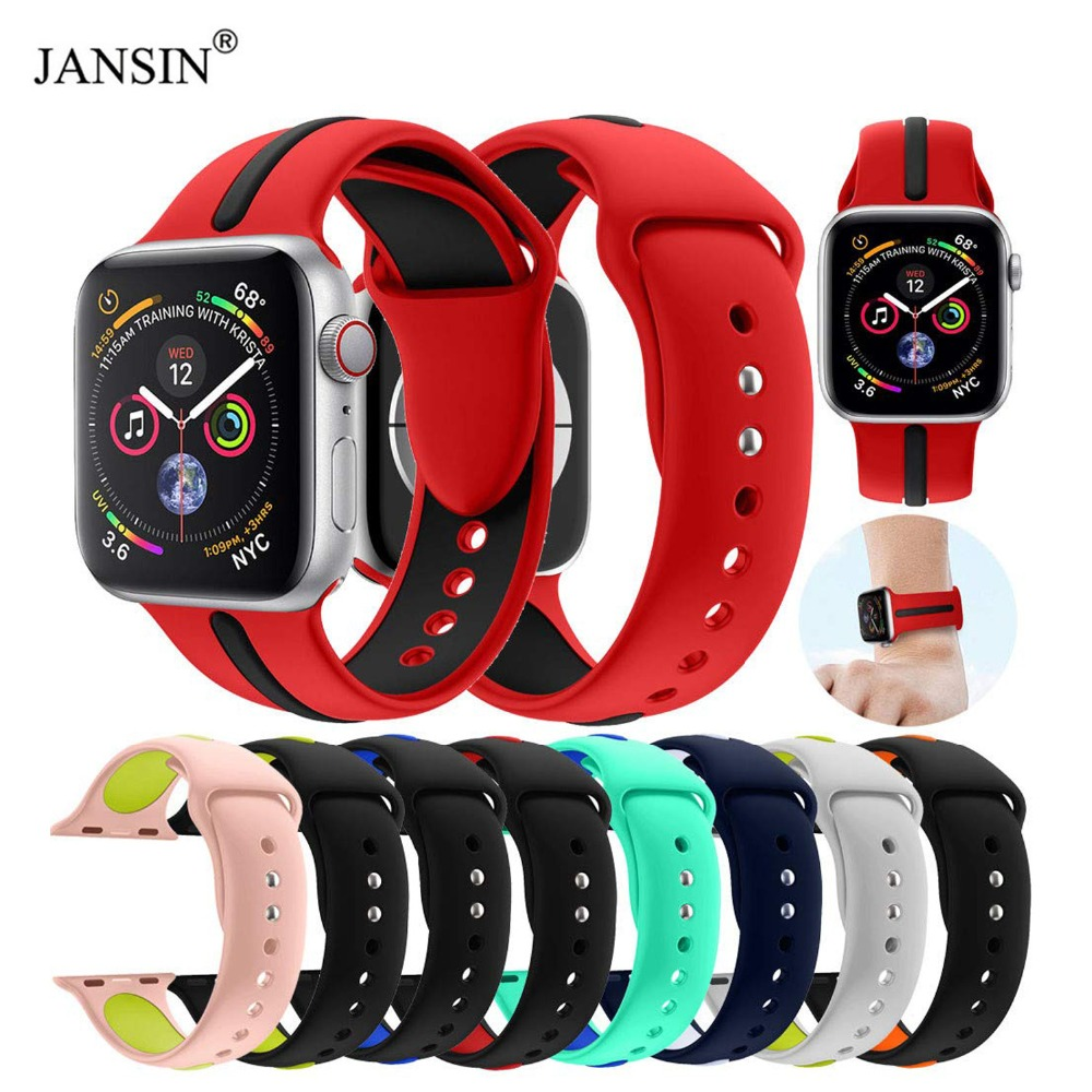 Soft Silicone Replacement Sport Band For Apple Watch 38mm 42mm Wrist Strap Bracelet For Apple Watch Series 5 4 3 Band 40mm 44mm