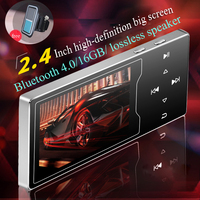 Newest C03 16GB Metal MP3 Player 2.4in HD Large Color Screen HIFI Lossles Sound FM Radio Ebook Video Player Built in Speaker Mp3