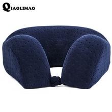 Новая u-образная подушка для шеи из пены памяти мягкая медленная отскок космическая дорожная подушка однотонная Шейная подушка для шеи Бесплатная доставка