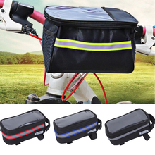 Size S/L Bicycle Bags Cycling Waterproof Touch Screen MTB Frame Front Tube Storage Mountain Bike Bag Saddle Phone Case D40