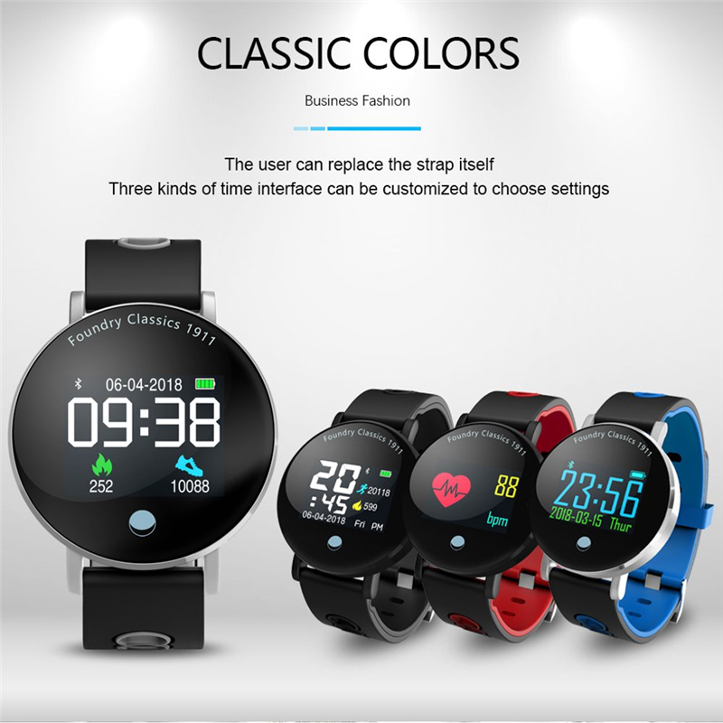 Round Display Blood Pressure Monitor Smart Watch Band Heart Rate Stopwatch Sport Mode Bracelet Home Health Care GiftRound Display Blood Pressure Monitor Smart Watch Band Heart Rate Stopwatch Sport Mode Bracelet Home Health Care Gift