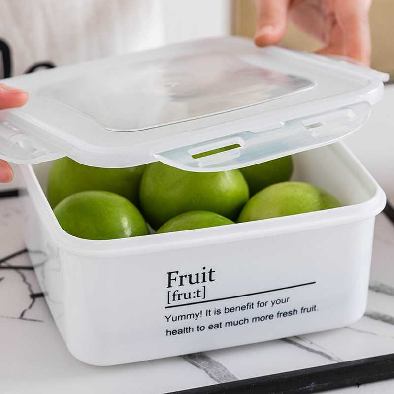Nordic Plastic Sealed Storage Box Dried Fruit  Cookie Snacks Food Sundries Container Kitchen Bathroom Organizer Tools Home Decor