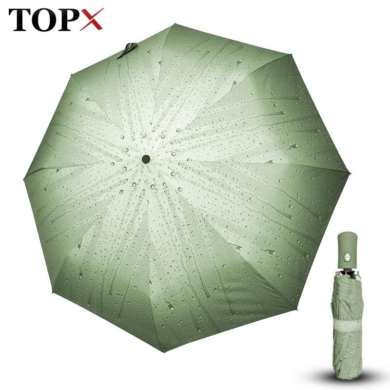 Creative 3D Raindrop Artistique Automatique Parapluie Pluie Femmes Hommes 3 Léger Repli et Durable Forte Parapluies Femmes Enfants Des Pluies Ensoleillé