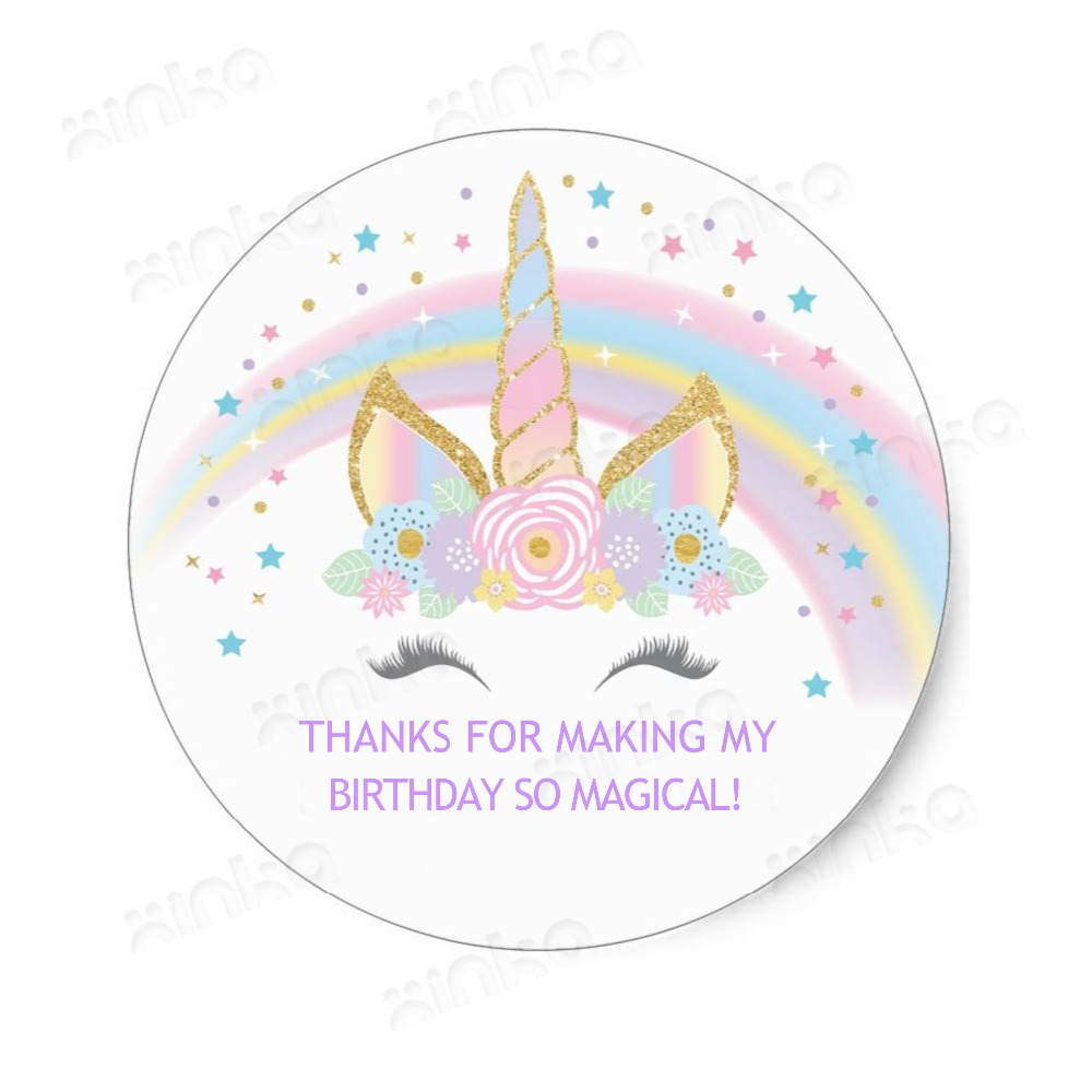 80pieces Rainbow Unicorn Birthday Party Favors Treat Bag