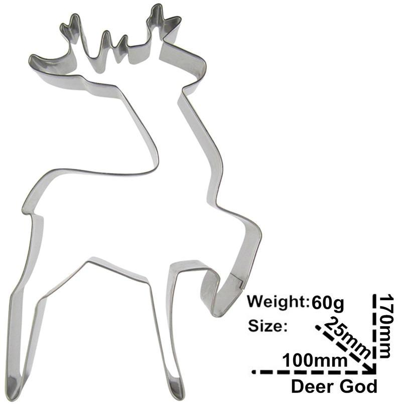 Elk Sika Deer және Christmas Deer Shape Cake Decorating Tools - Тағамдар, тамақтану және бар - фото 3