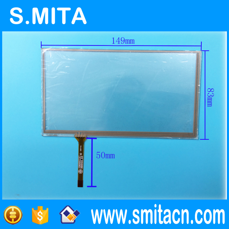 6 1 inch 149mm 83mm 149 83 mm 4 wire resistive touch screen digitizer panels gps navigation. Black Bedroom Furniture Sets. Home Design Ideas