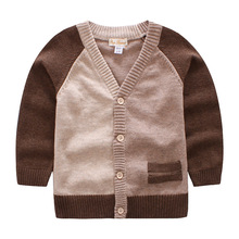 2018 New Spring&Autumn Brown Cardigan Coat For Baby Boys Girl Kids Knitted Sweaters Children Knitwear Coat Kids Brand Clothes