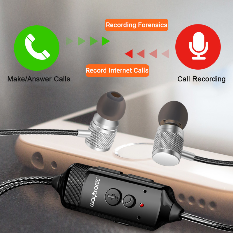 Cellphone Call Recorder Incoming Outgoing Call Recording Headphone for Cellular WhatsApp Skype Messenger Calls infinity incoming