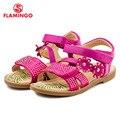 Flamingo famosa marca 2016 recién llegado de primavera y verano los niños sandalias de moda de alta calidad para las niñas 61-ss107/61-ss108