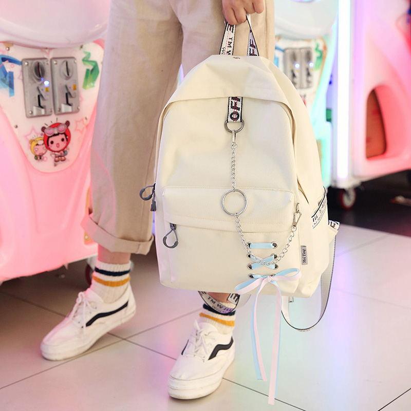 Mode große kapazität einkaufstasche laptop rucksack rucksack leinwand taschen student mochila frauen schule Taschen