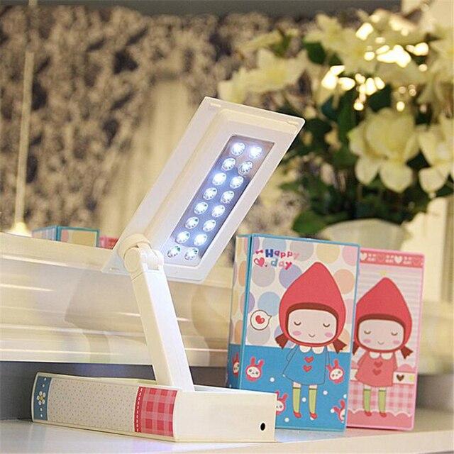 3 Цветов Симпатичные Складной СВЕТОДИОДНАЯ Лампа Защиты Глаз Для Чтения Света LED Стол Настольная Лампа Для Детей Спальня Гостиная