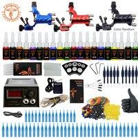 Beginner Starter Complete Tattoo Kit Professional Tattoo Machine Kit 3 Rotary Machine Guns 20 Colors Ink