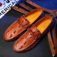 Top quality new arrival men loafers Alligator Pattern slip on casual shoes driving mocassins walk shoes size 39-44