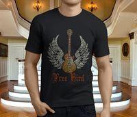 New Popular Free Bird Lynyrd Skynyrd Men S Black T Shirt Size S 3XL Short Sleeve